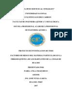 Factores de Riesgo Del Material Particulado
