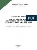 Quiroz Herruso, Antonio - Demonologia de Sto Tomas en El Comentario de Job