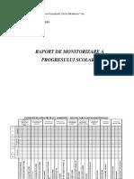 Raport de Monitorizare Al Progresului Scolar