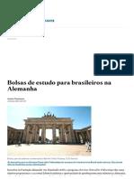 Bolsas de Estudo Para Brasileiros Na Alemanha