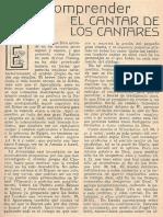 Straubinger; M. Juan - Para Comprender El Cantar de Los Cantares