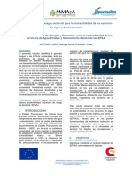 Reducción de Riesgos y Desastres  para la sostenibilidad de los servicios de Agua Potable y Saneamiento Básico de las EPSA