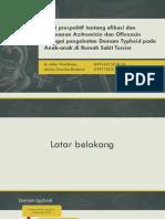 Studi Prospektif Tentang Keampuhan Dan Keamanan Azitromicin pada Anak-anak