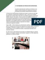 Estudios de Tempo y Estandares de Produccion Supervision Funcional