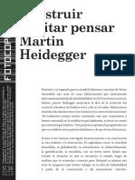 Heidegger, Construir, habitar, pensar