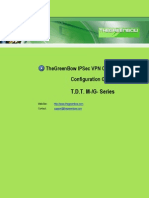 TDT M&G Series & GreenBow IPsec VPN Configuration
