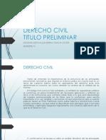Derecho Civil - Titulo Preliminar