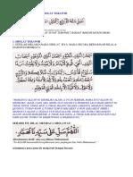Bacaan Lafad Niat Sholat Terawih