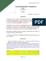 Contrato Investigacion y Desarrollo Esp