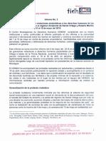 Segundo informe CENIDH sobre violaciones sistemáticas a los derechos humanos por el régimen dictatorial Ortega - Murillo del 01 al 15 de mayo del  2018