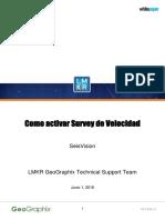 Como Activar Survey de Velocidad