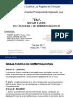 Norma Em 020 Instalaciones de Telecomunicaciones