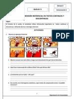 GUÍA- Comprensión Inferencial en Textos Continuos y Discontinuos