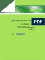 CNet CWR854 & GreenBow IPsec VPN Configuration