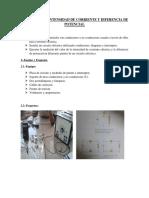 PRACTICA N°5 INTENSIDAD DE CORRIENTE Y DIFERENCIA DE POTENCIAL