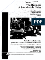 The Business of Sustainable Cities - Serageldin, i. Et Al.