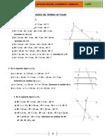 Guia II Año Math Teorema de Thales, Euclides Semejanza y Congruencia