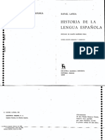 Historia de La Lengua Espanola - Rafael Lapesa