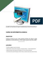 Temario Para Un Curso de Informática Básica