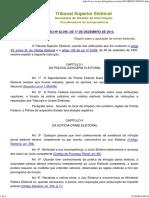 Resolução TSE n.º 23.396_2013 - Apuração de Crimes Eleitorais