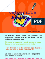 ORTOGRAFÍA ACENTUAL