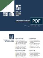 2018 Fall Design Fete Sponsorship Opportunities