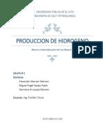 Obtencion de Hidrogeno