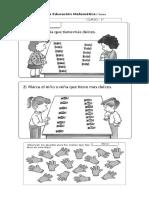 guía educación matemática 1 básico