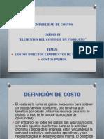 Costos Directos e Indirectos