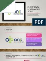 Elementary Unit1 Work Skills