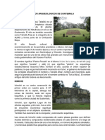 Sitios Arqueologicos de Guatemala
