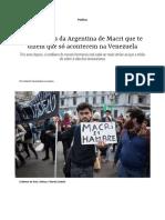 Problemas Argentina