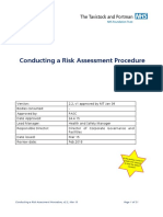 Procedure Conducting Risk Assessment