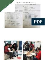 student led portfolio conferences