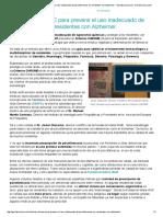 Criterios CHROME Para Prevenir El Uso Inadecuado de Psicofármacos en Residentes Con Alzheimer - Geriatricarea.com
