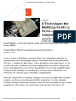 Techniques for Building Reading Skills in Any Subject