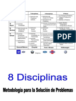 8 Disciplinas (8 D)