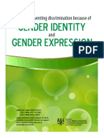 Policy on Preventing Discrimination Because of Gender Identity and Gender Expression