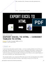 Export Excel to HTML - Convert Tables to HTML - The Analyst Cave _ Excel, VBA, Programming and More