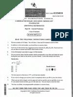 2014 Add Maths P1