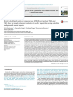 Retrieval of Land Surface Temperature (LST) From Landsat TM6 and TIRS Data by Single Channel Radiative Transfer Algorithm Using Satellite and Ground-based Inputs