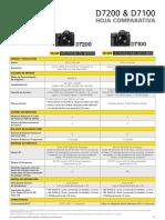 D7200-D7100 Comparison Sheet Sp