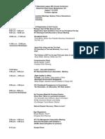Conference Agenda 2018
