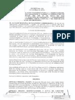 Decreto 122 de 2018 de la alcaldía de Facatativá