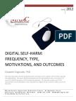 Digital Self Harm Report