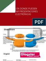 SITIOS EN DONDE PUEDEN PUBLICAR PRESENTACIONES ELECTRÓNICAS (1).pptx