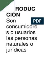 INTRODUCCIÓN de Derecho Al Consumidor