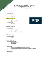 Agenda de Estudos Pessoais Para as Provas e Seleções