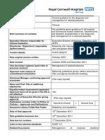 B96. RetainedPlacentaGuidelineForTheDiagnosisAndManagementOf