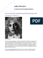 The 10 Personality Disorders